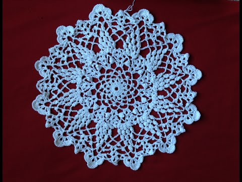 Crochet Grape Harvest Doily Part2 - YouTube