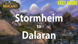how to get to stormheim from stormwind