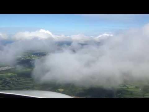 CJ3 Exec Flight - Approaching Newquay Cornwall Airport (EGHQ)