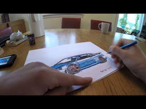 Nissan Skyline GT-R drawing (M S Paint)   Doovi