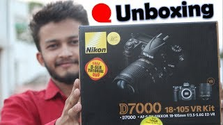 {HINDI} Nikon DSLR D7000 Price, Specifications, Features, Reviews (18-105mm VR Lens) unboxing
