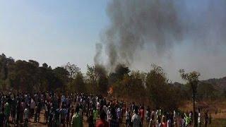 helicopter crash in mumbai s aarey colony pilot killed