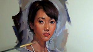 Oil Painting Girl Portrait Demo