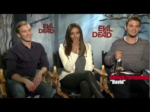 Evil Dead remake  with stars Lou Taylor Pucci, Shiloh Fernandez and Jessica Lucas