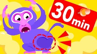 Where Is My Bum? The Baboon Song! Monkey, Jungle, Bananas & Fruits! By Little Angel: Kids Songs