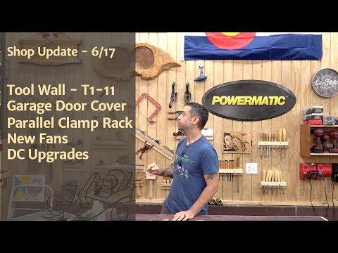 Tool Wall, Garage Door Cover, New Fans, DC Upgrades - Shop Update 6/17