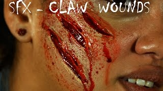 Halloween-SFX Make Up : Claw Wounds Tutorial