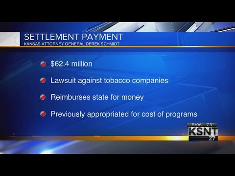 Kansas gets $62.4 million payment from tobacco settlement