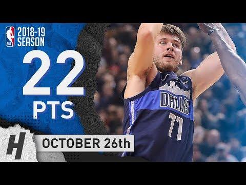 Luka Doncic Full Highlights Mavericks vs Raptors 2018.10.26 - 22 Points!