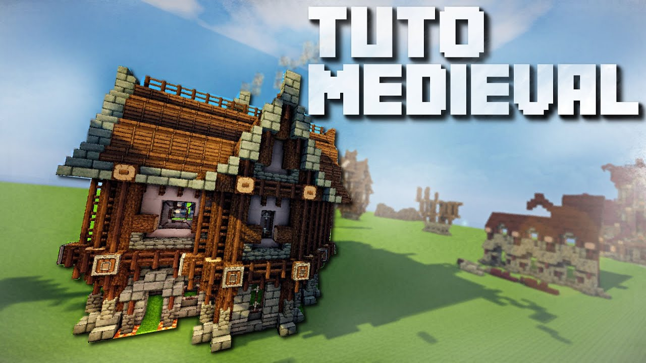 tutoriel minecraft le style medieval youtube. Black Bedroom Furniture Sets. Home Design Ideas
