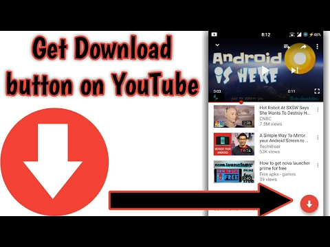 How to get download button on original YouTube app