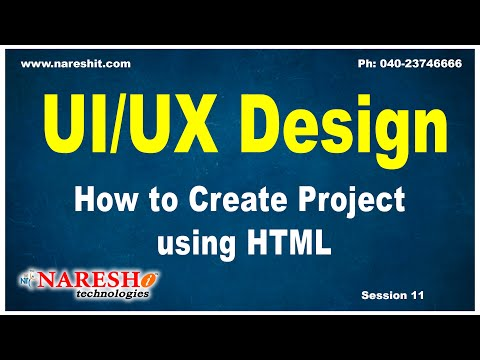 Session-11 | How To Create Project Using HTML | HTML First Mini Project | UI/UX Tutorial