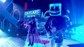 Marshmello ft. CHVRCHES - Here With Me (Jimmy Kimmel Live in Las Vegas Performance)