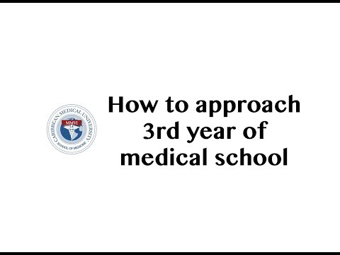 How to approach 3rd year of medical school