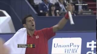Novak Djokovic Angry Reaction to Del Potro's Fans In Shanghai