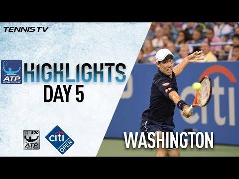 Nishikori Zverev Advance In Washington 2017 Friday Highlights