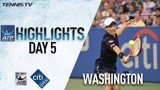Nishikori Zverev Advance In Washington 2017 Friday Highlights thumbnail