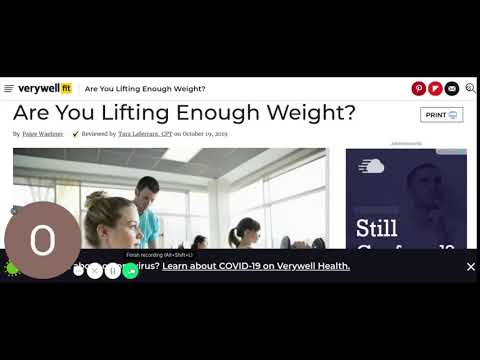 Are You Lifting Enough Weight