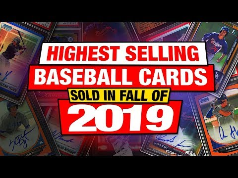 TOP 20 Baseball Cards Sold In Fall Of 2019 MLB Rookie Sports Cards