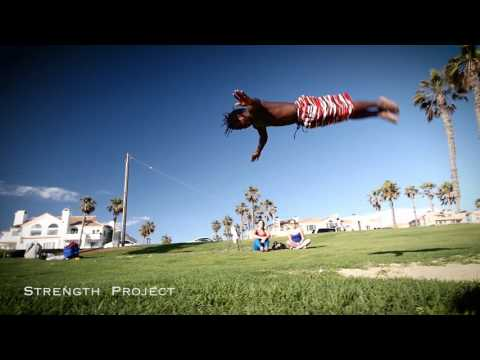 INSANE JUMPS AND FLIPS!  West Africa Young Kaba and Moustapha Huntington Beach Strength Project
