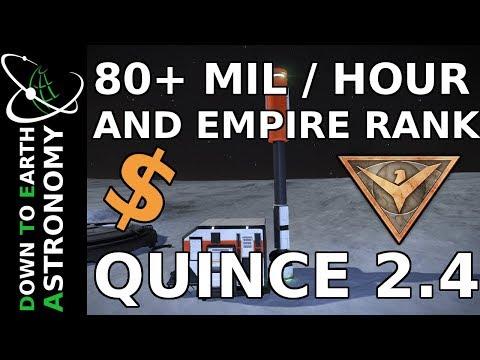 80+ MIL/HOUR IN 2.4 + EMPIRE RANK | QUINCE STATUS | ELITE DANGEROUS 2.4
