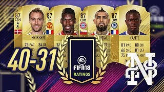 Fifa 18 player ratings from 40 to 31 - omg 87 kante!!!! - fifa 18 ultimate team #fifa18ratings