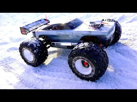 RC ADVENTURES - WiNTER BASHFEST - Dodge Charger E-Revo & Friends at BLACKFOOT RC!