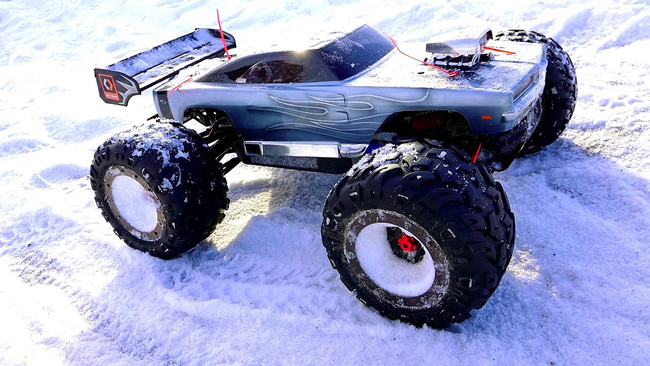Dodge Ice Charger >> RC ADVENTURES - WiNTER BASHFEST - Dodge Charger E-Revo & Friends at BLACKFOOT RC! - YouTube