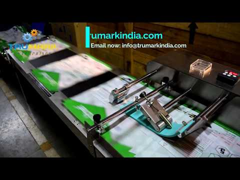 Automatic friction feeder for pouch bags - inkjet printing conveyor