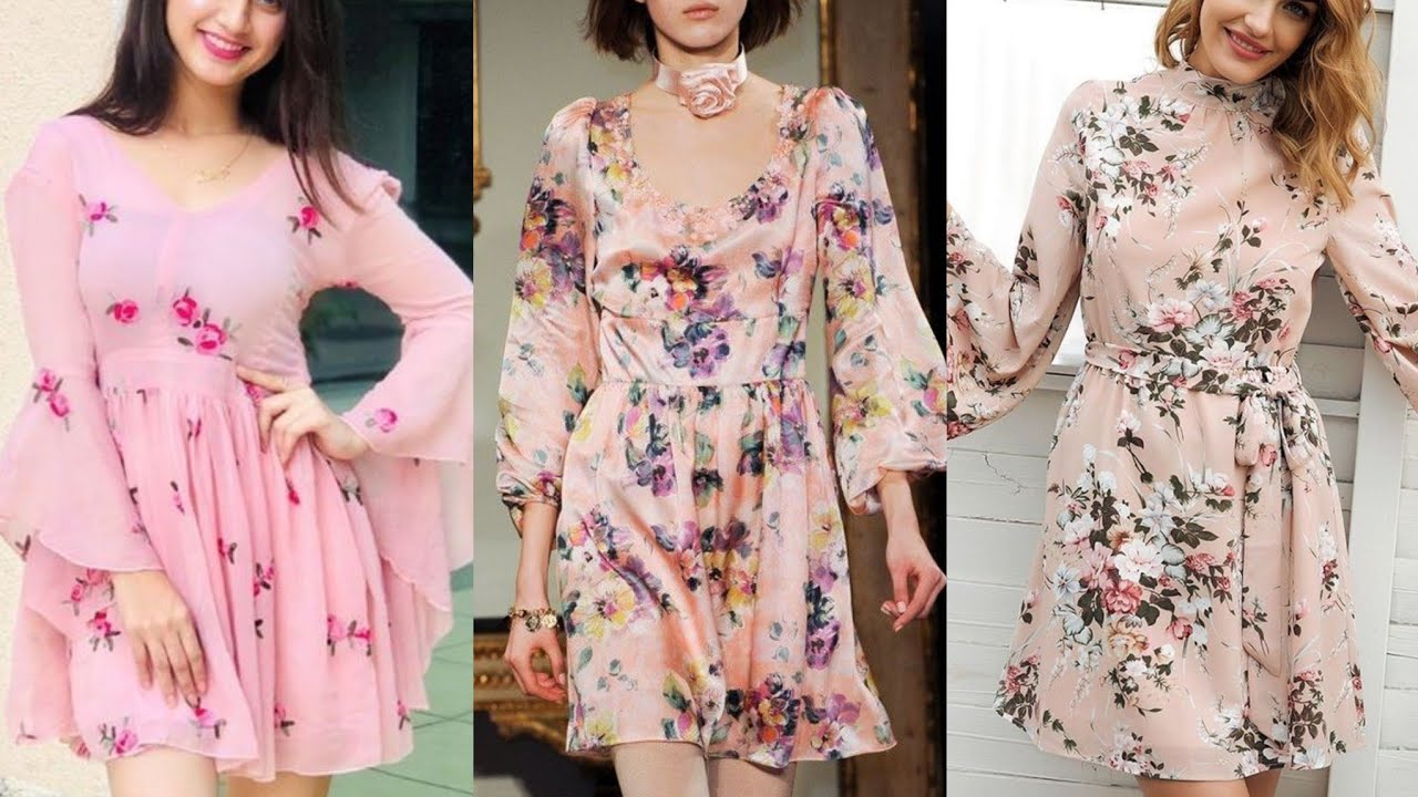 Gorgeous And Stylish Colorful Flower Printed Midi Skirt Dresses Ideas Youtube