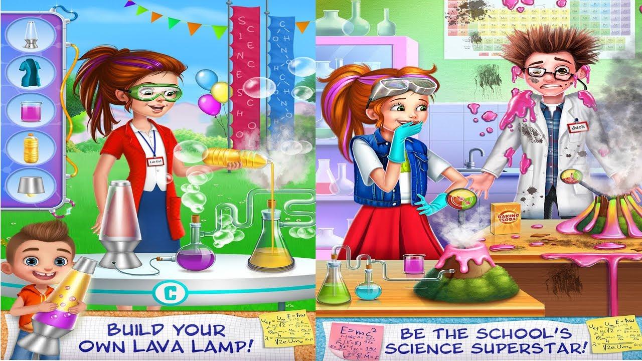 Fun Baby Girl Kids Game | Learn Play Fun Science Girl - Lab Super Star |  Kids Cartoon