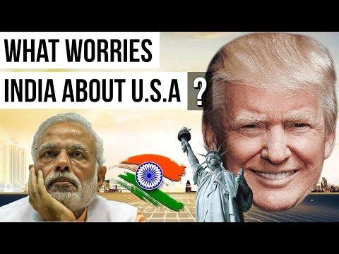What India worries about USA -  भारत आगामी टू प्लस टू वार्ता - Geopolitics - Current Affairs 2018