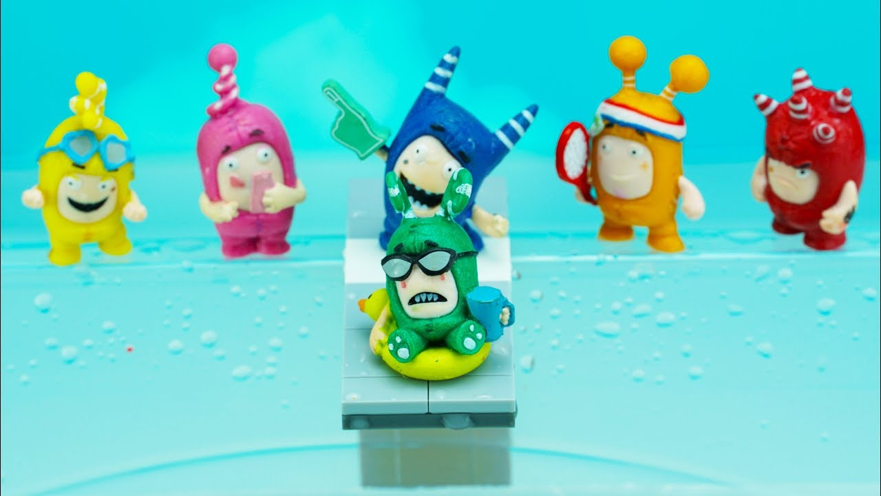 Oddbods Toys Jump Into The Water Tank Learn Colors For