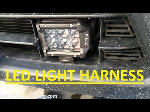Oslamp LED 4'' Spot Light Bar Bumper Installation Video/Review