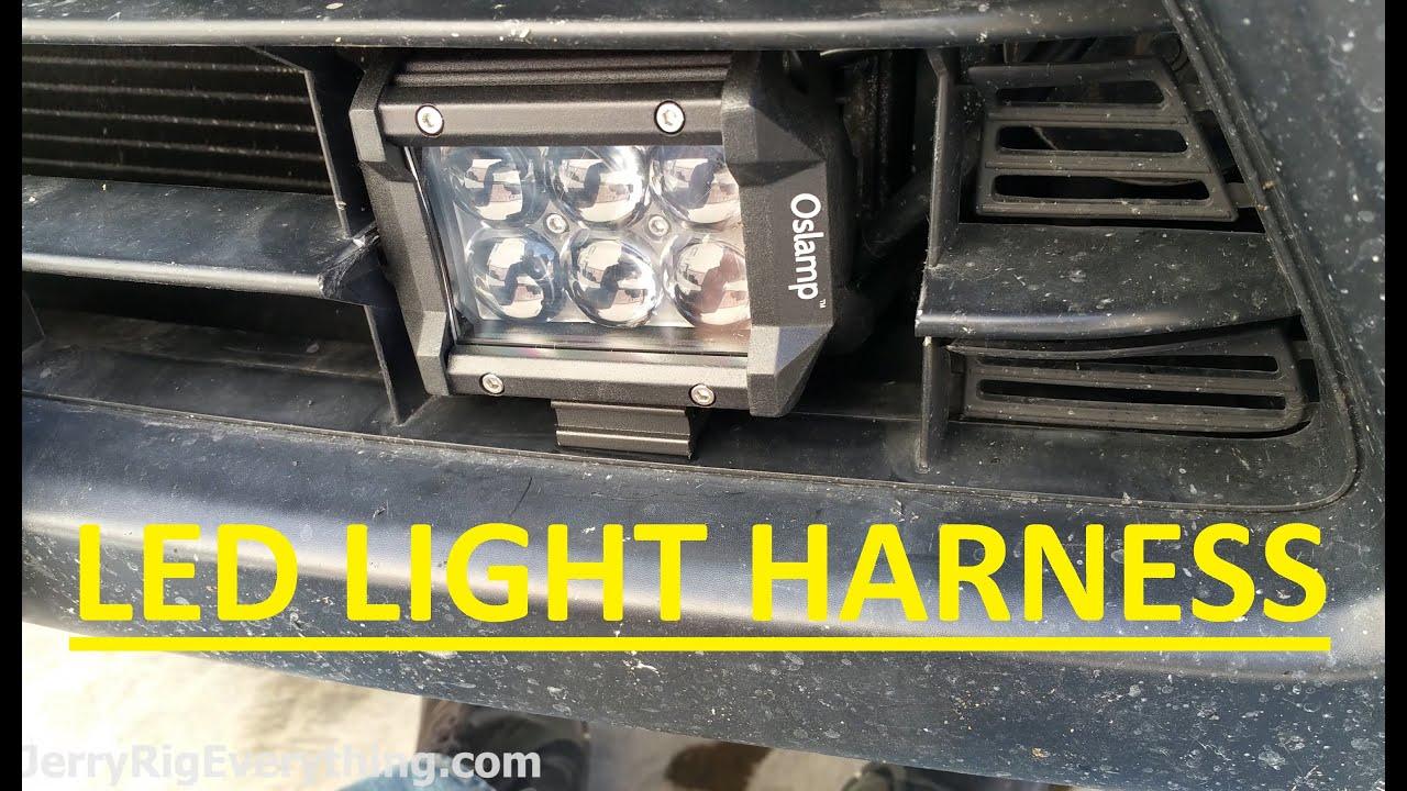 hight resolution of oslamp led 4 spot light bar bumper installation video review