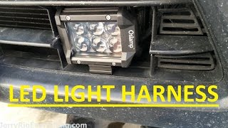 Oslamp LED 4'' Spot Light Bar Bumper Installation Video/Review