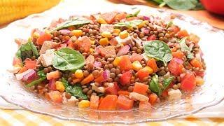 Ensalada de Lentejas   Receta muy Fácil, Deliciosa y Fresca