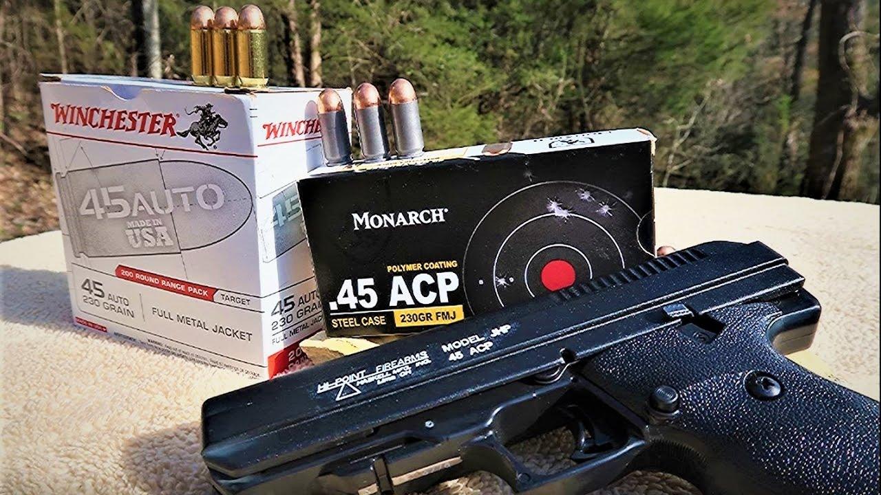 Hi-Point JHP pistol  45 - AMMO TEST