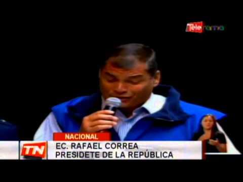 Presidente Correa critica a la dirigencia de los trabajadores