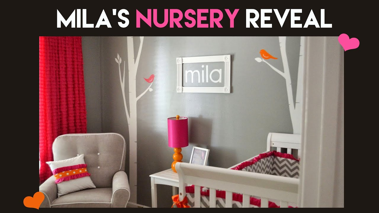 Mila S Grey Pink Orange Nursery Reveal
