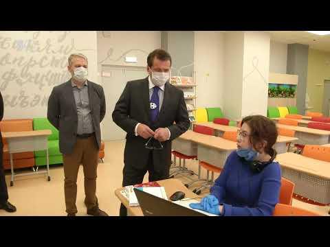 Метшин побывал на дистанционных уроках в казанском лицее