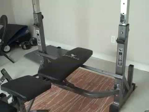 HomeGym Equipment Heres a bench Olympic barbell set and