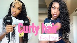 NIGHT/MORNING CURLY HAIR ROUTINE FT BEAUTY FOREVER HAIR!