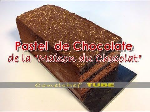 Pastel de chocolate semiamargo con bizcocho sin harina (Maison du Chocolat)