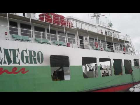Montenegro line ship slams into Romblon Philippines port wall during Typhoon