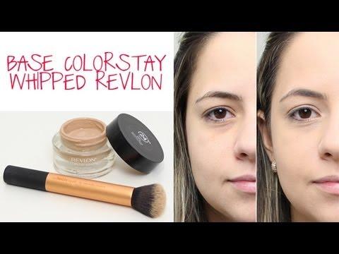 Aplicação da Base Revlon Colorstay Whipped Crème Makeup - YouTube