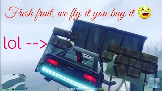 GTA 5 Flying produce stand !