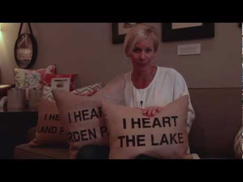 "KKTV: Kerrie Kelly Design Lab's ""I Heart"" Pillow Series"