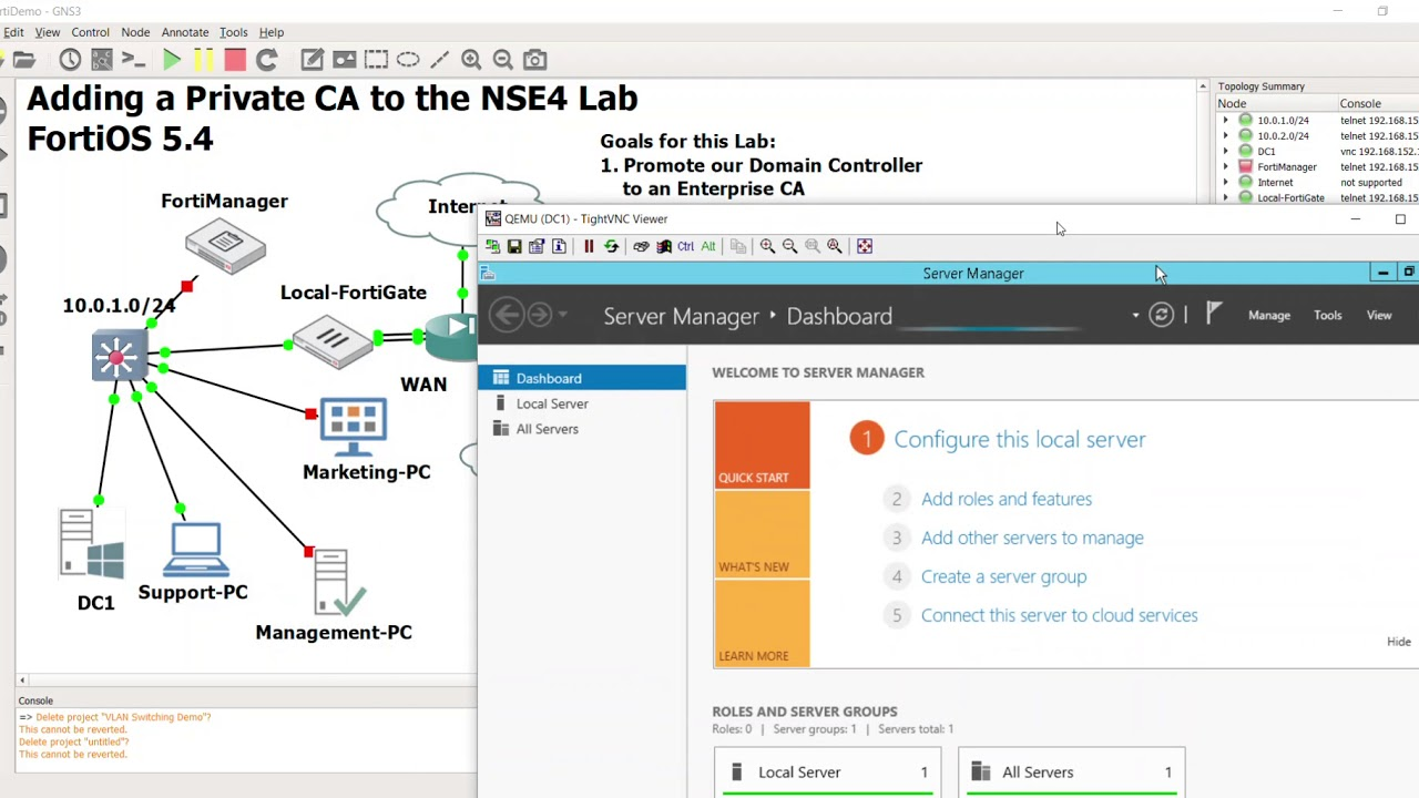 2 Creating a Private CA in GNS3 Test Lab Part 1 Introduction, Adding Roles,  and Configuring the C