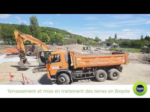 BIOGENIE EUROPE  : Traitement des sols en biopile